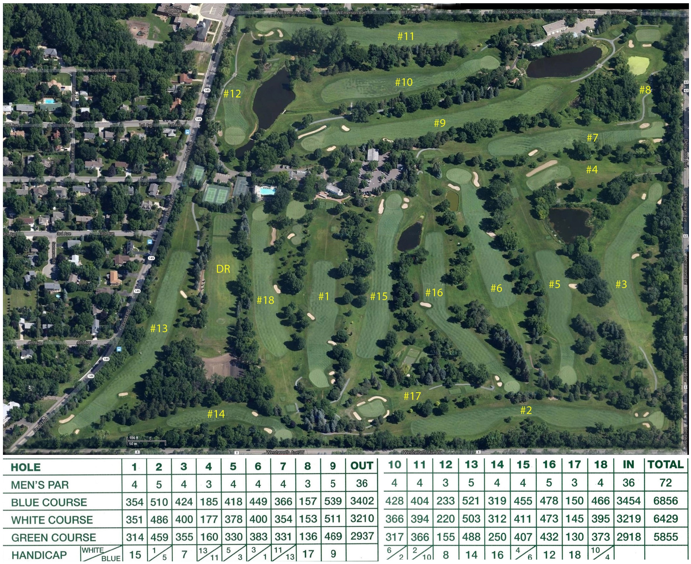 Course Map of Somerset Country Club Somerset Country Club, 1416 Dodd Rd, Mendota Heights, MN