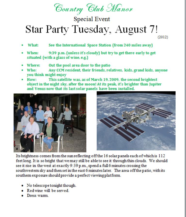 Typical Star Party Invitation